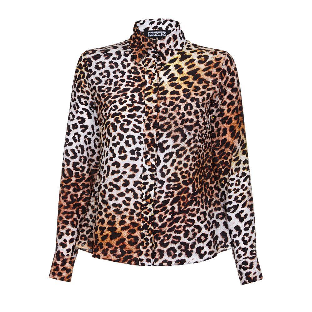 Classic Silk Shirt - Natural Leopard