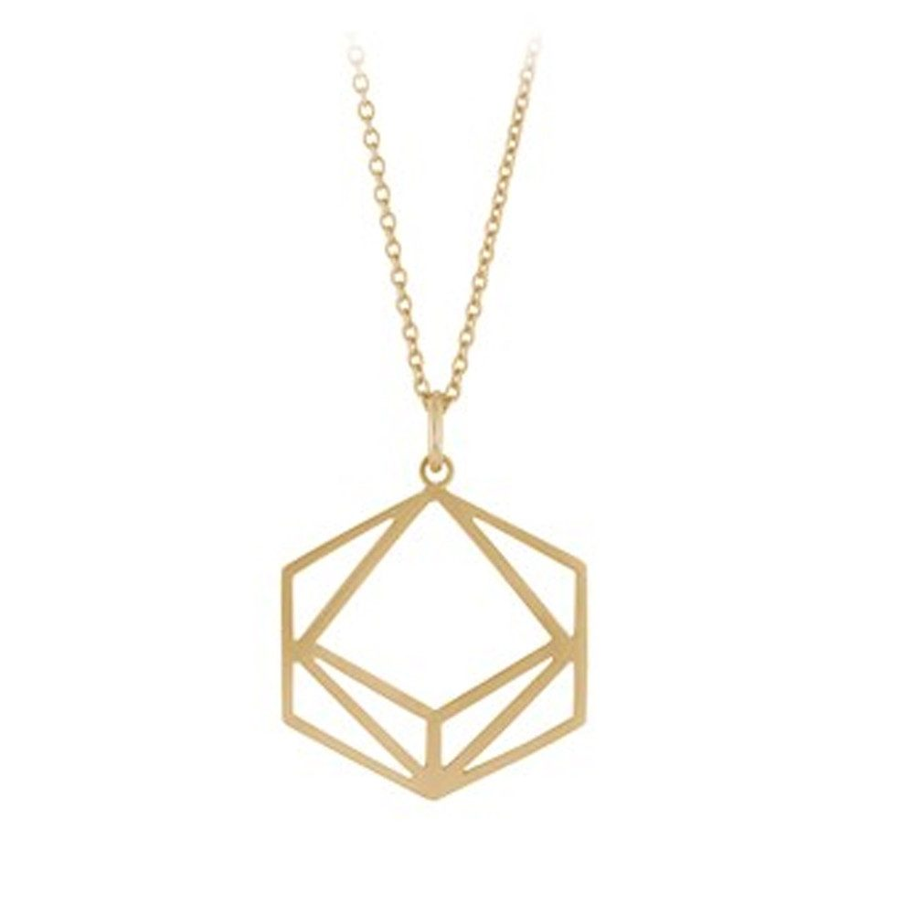 Icon Short Necklace - Gold