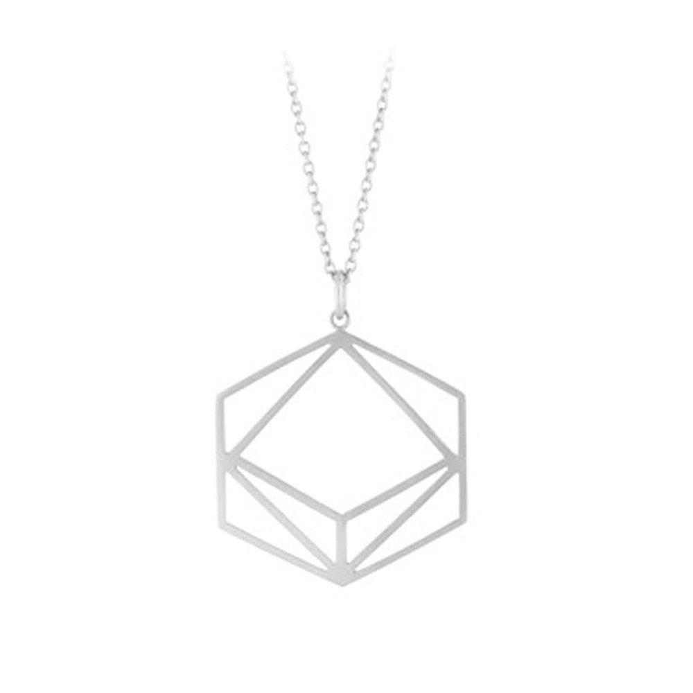 Icon Long Necklace - Silver