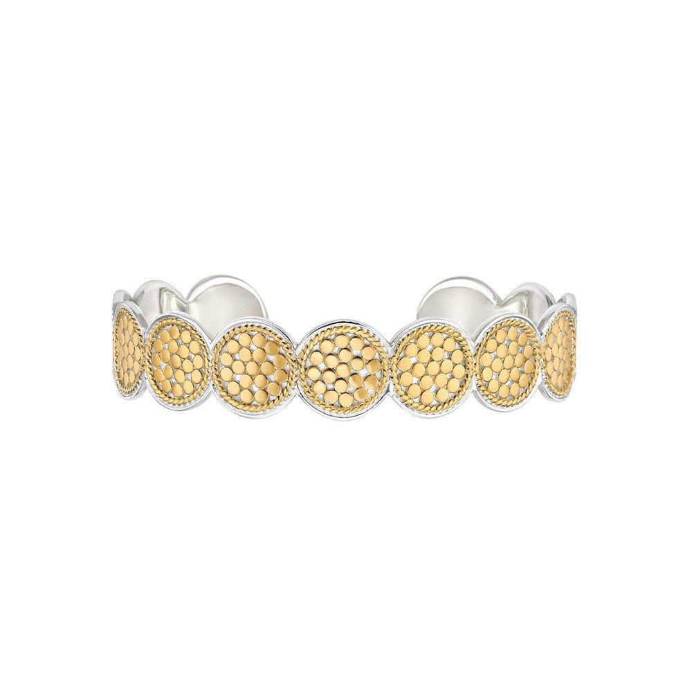 Multi Disc Cuff Bracelet - Gold