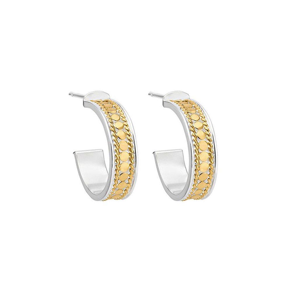 Hoop Post Earrings - Gold