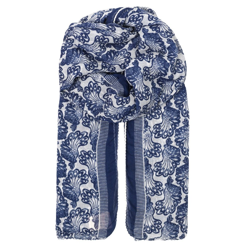 Elly Cotton Scarf - Medieval Blue