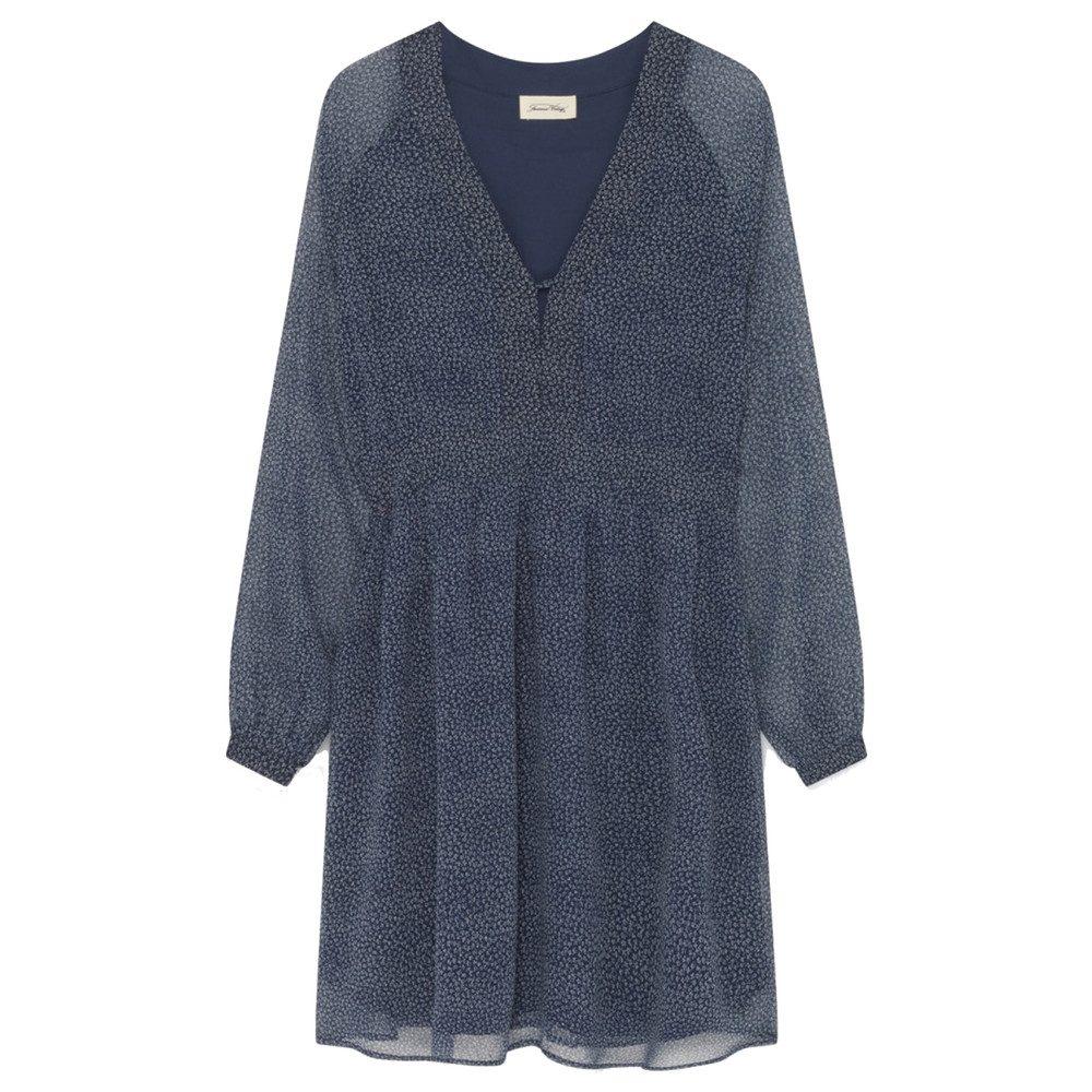 Peonyland Printed Dress - Navy Clover