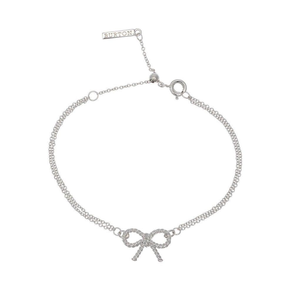 Vintage Bow Chain Bracelet - Silver