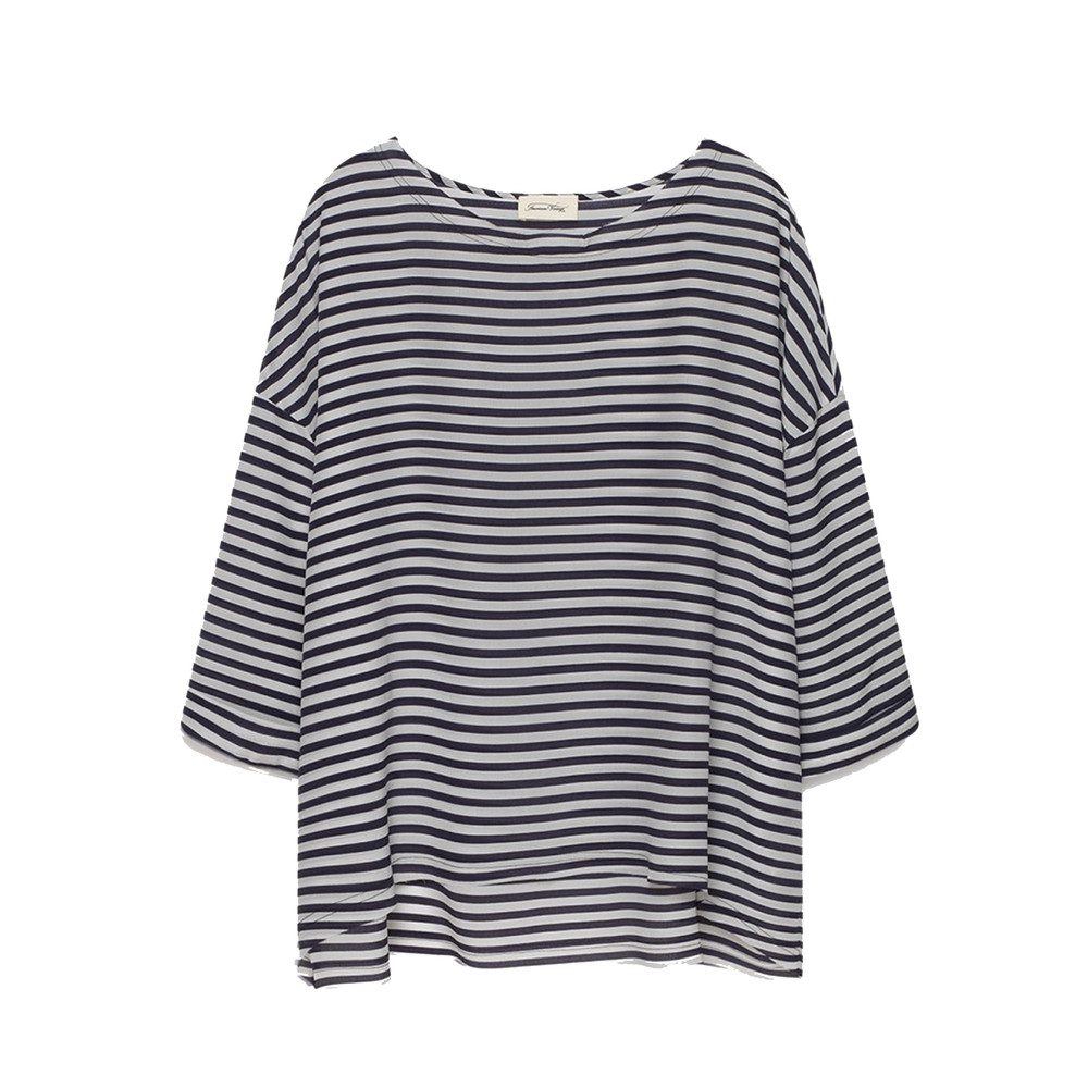 Fassaway 3/4 Length Silk Top - Stripe