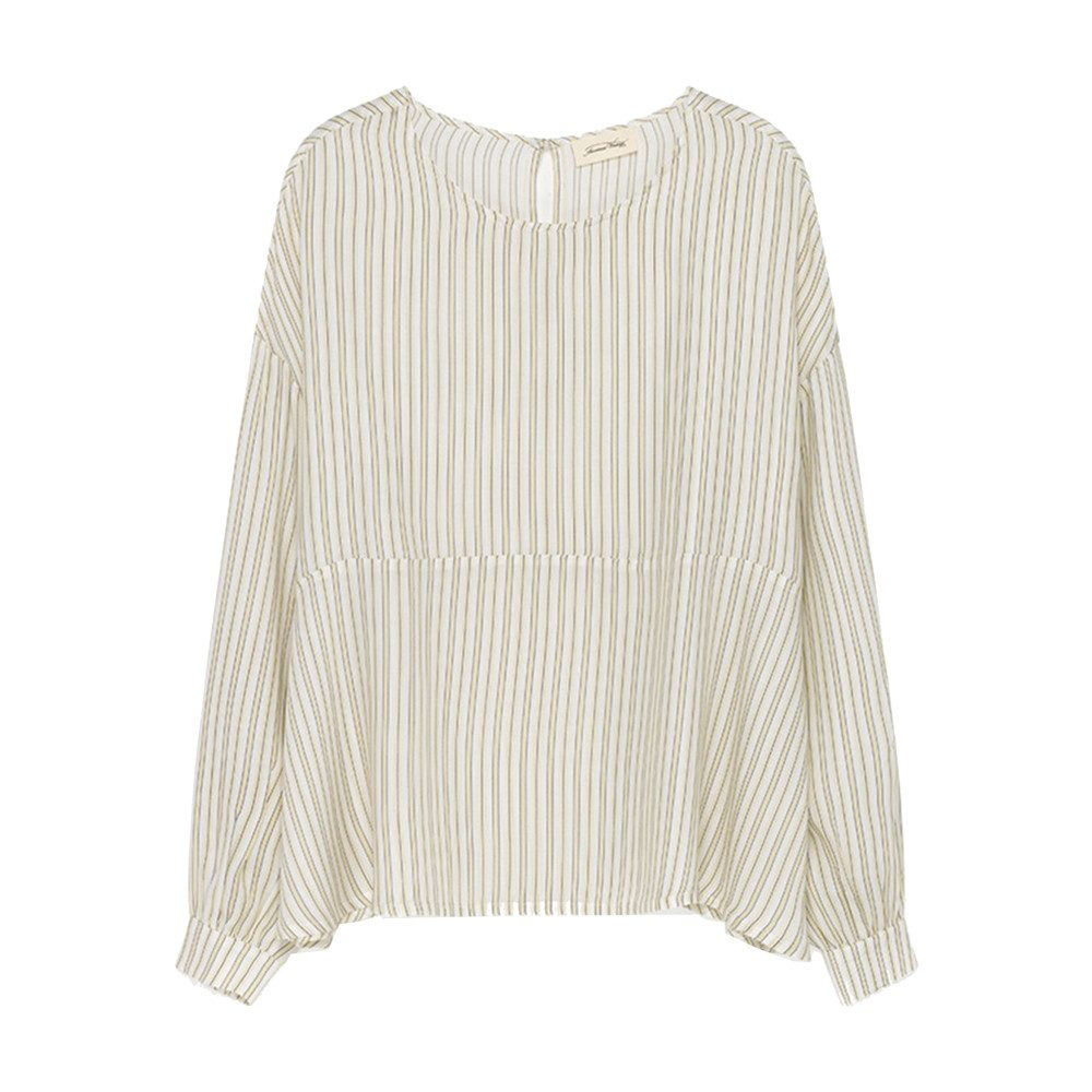 Doggywood Top - Beige Yellow Stripe