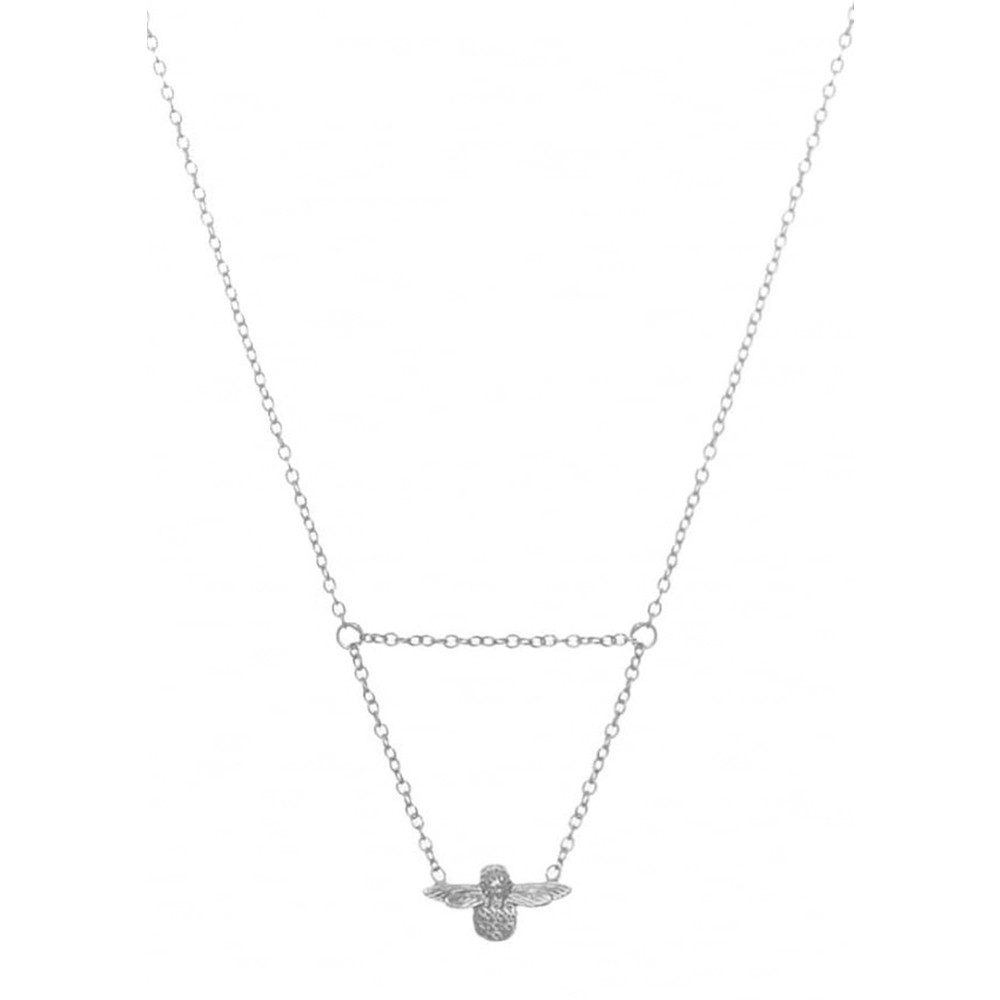 Queen Bee Drop Necklace - Silver