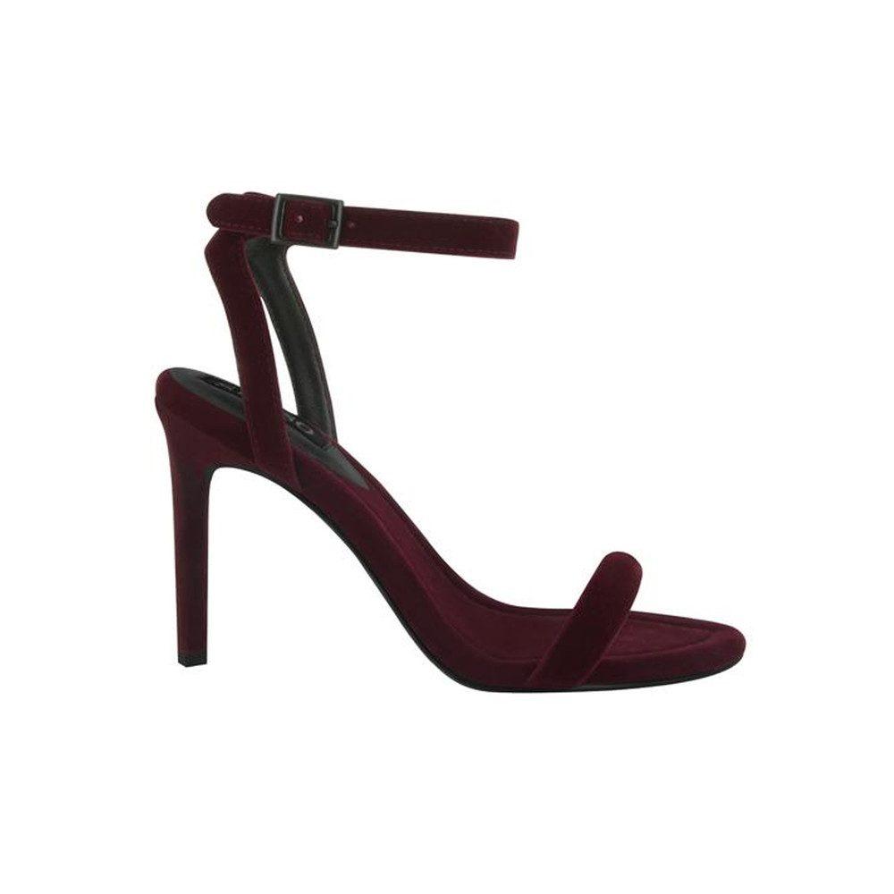 Tyra Velvet Heel - Wine