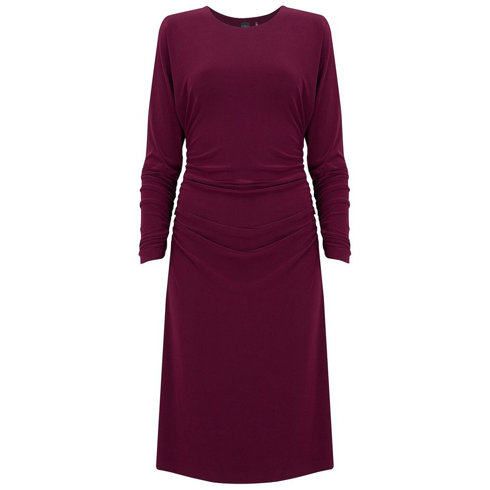 Dolman Shirred Waist Dress - Plum