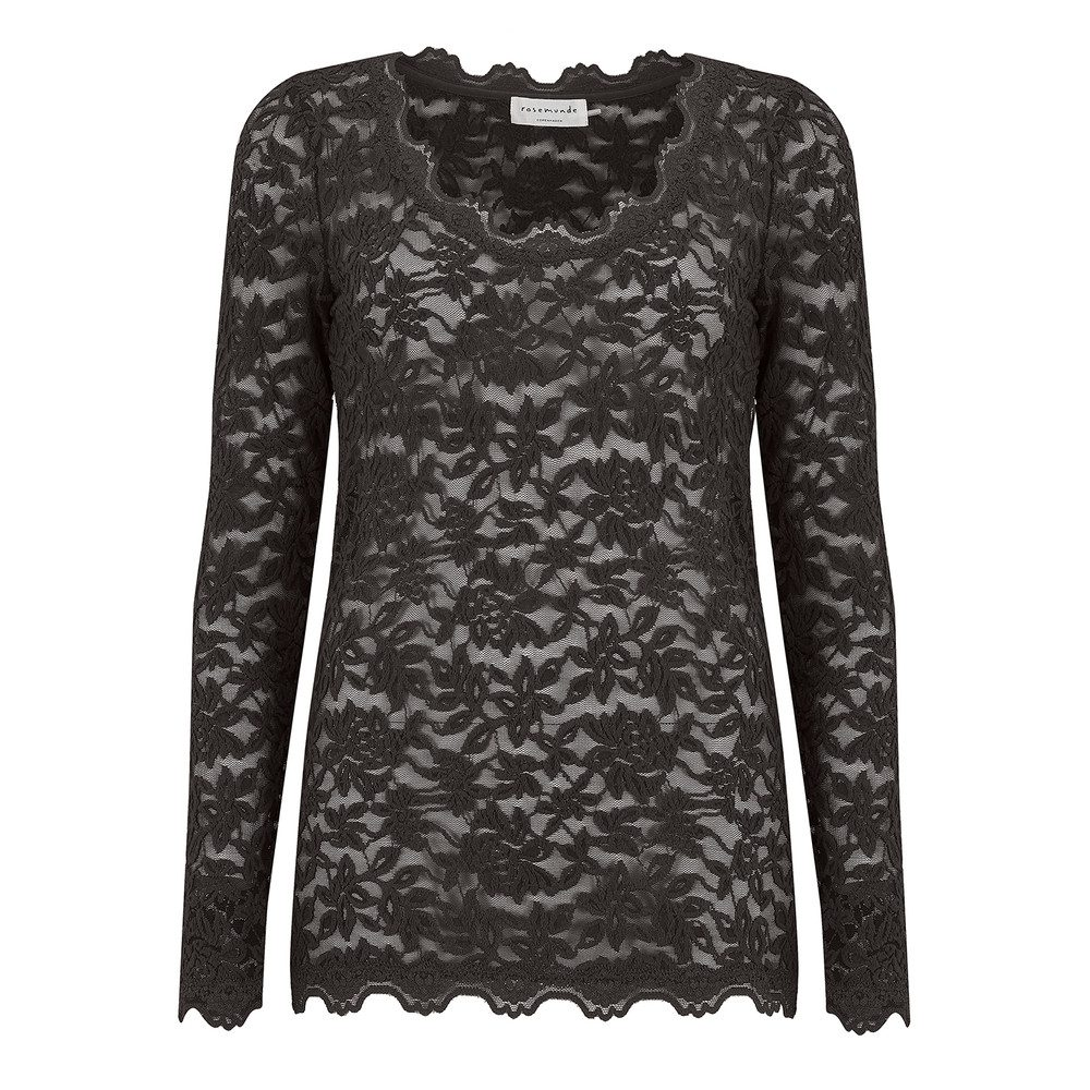 Delicia Long Sleeve Lace Top - Raven