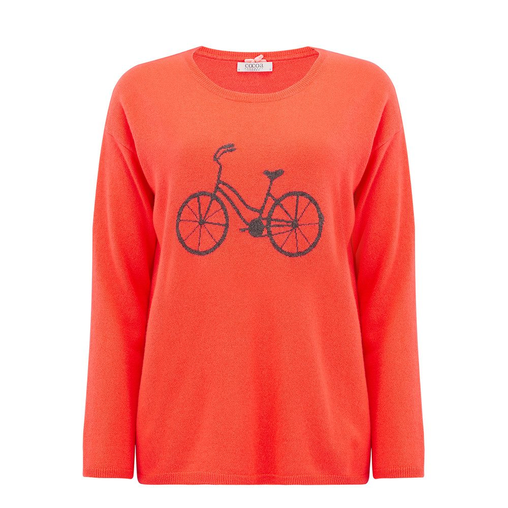Cycle Cashmere Jumper - Chilli & Ash