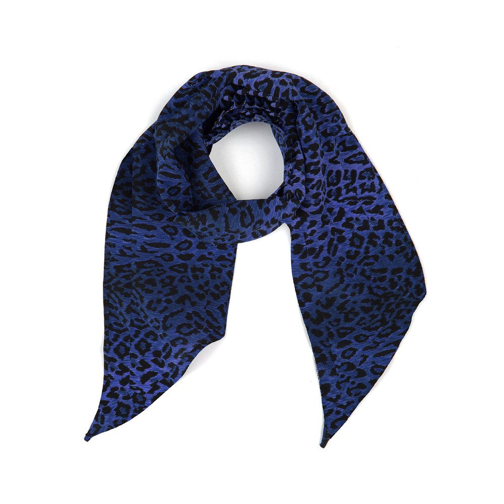Exclusive Alexa Neck Scarf - Blue Leopard
