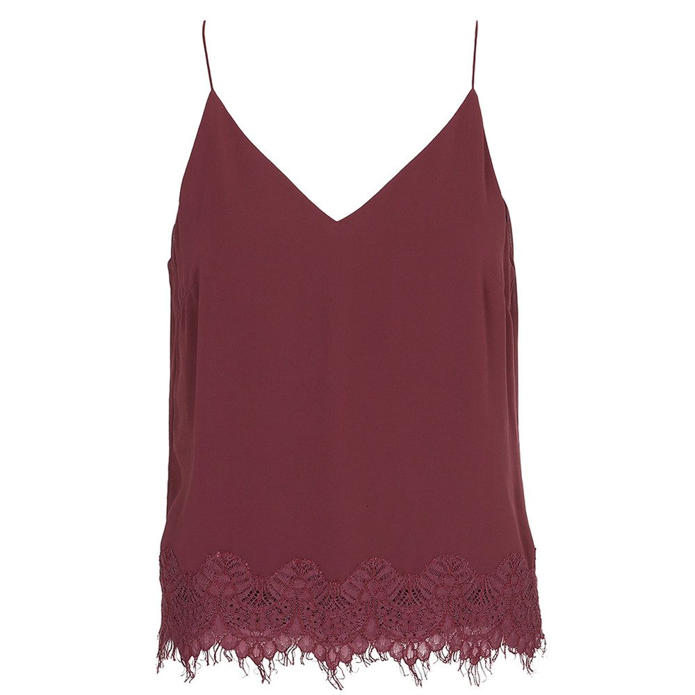 Karline Lace Camisole - Nocturne Plum