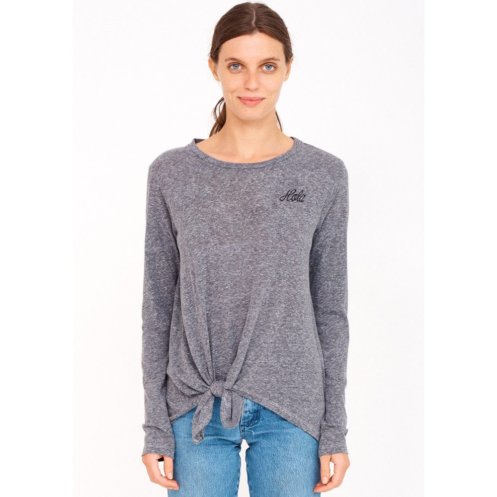 Hola Knotted T-shirt - Heather Grey
