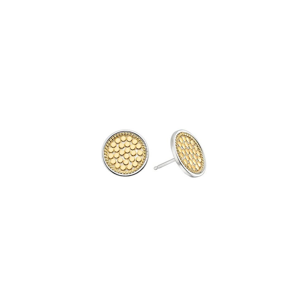 Signature Circle Stud Earrings - Gold