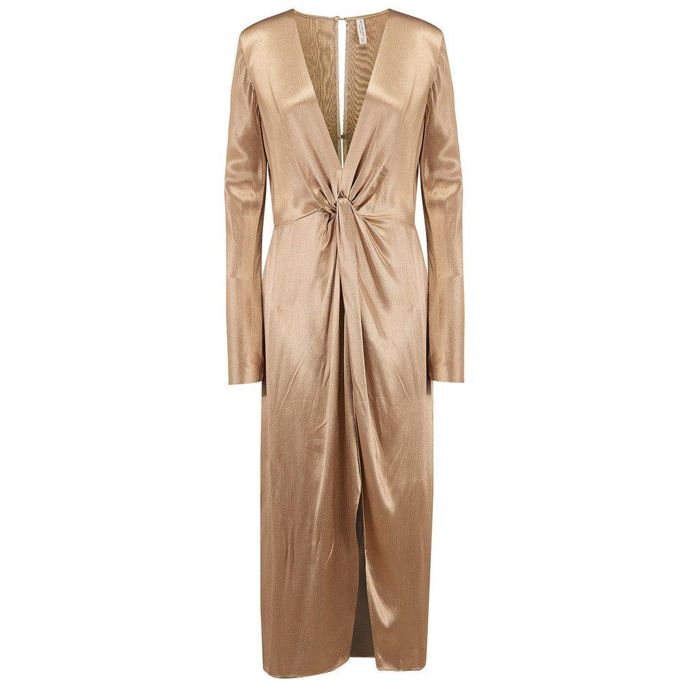 Shimmy Nights Long Sleeve Dress - Gold