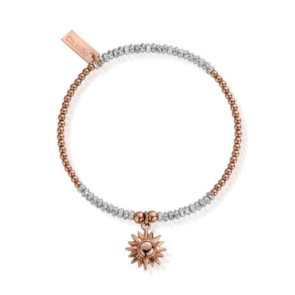 Inner Spirit Sparkle Sun Bracelet - Rose Gold & Silver