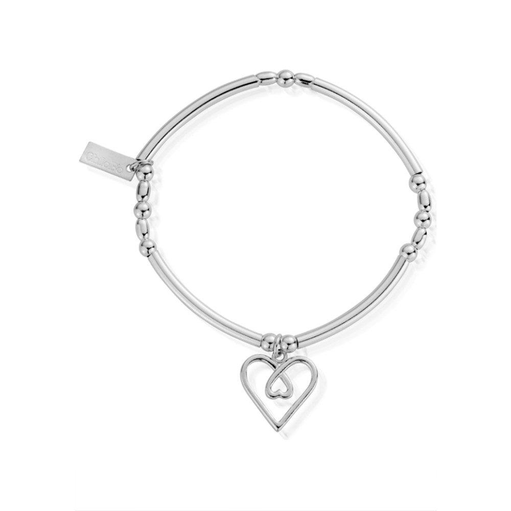 Inner Spirit Divine Love Heart Bracelet - Silver