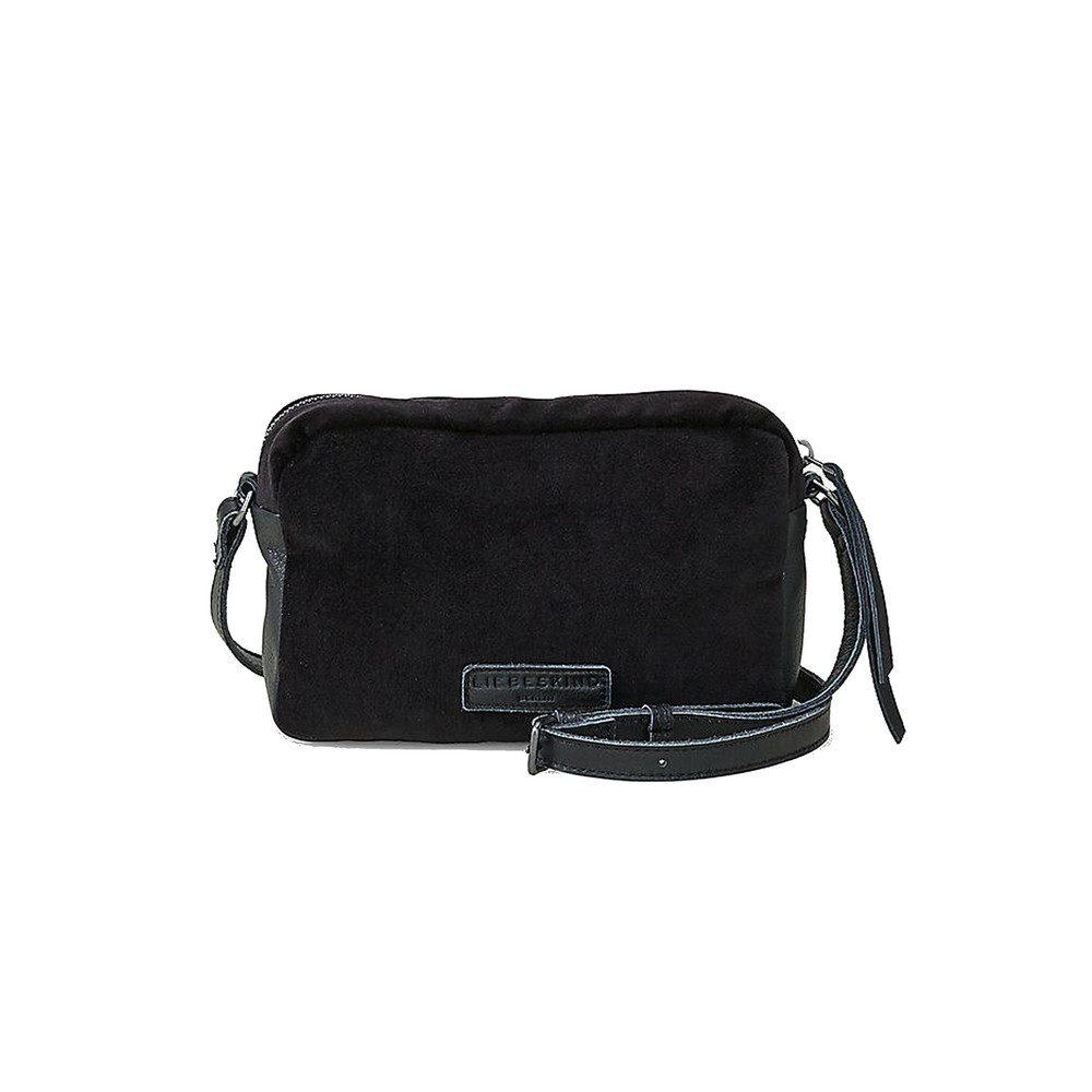 Jolanda Small Velvet Bag - Oil Black