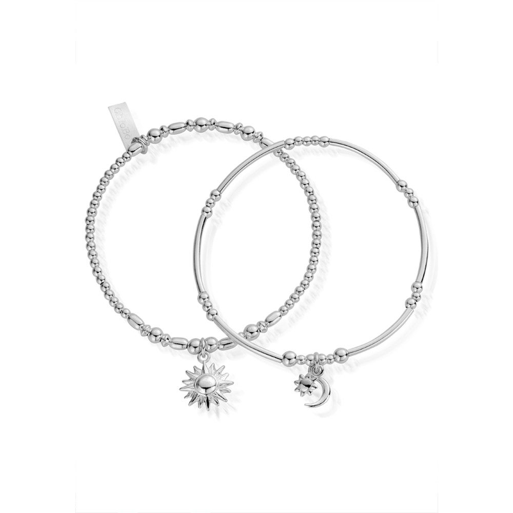 Inner Spirit Dusk To Dawn Set of 2 Bracelets - Silver