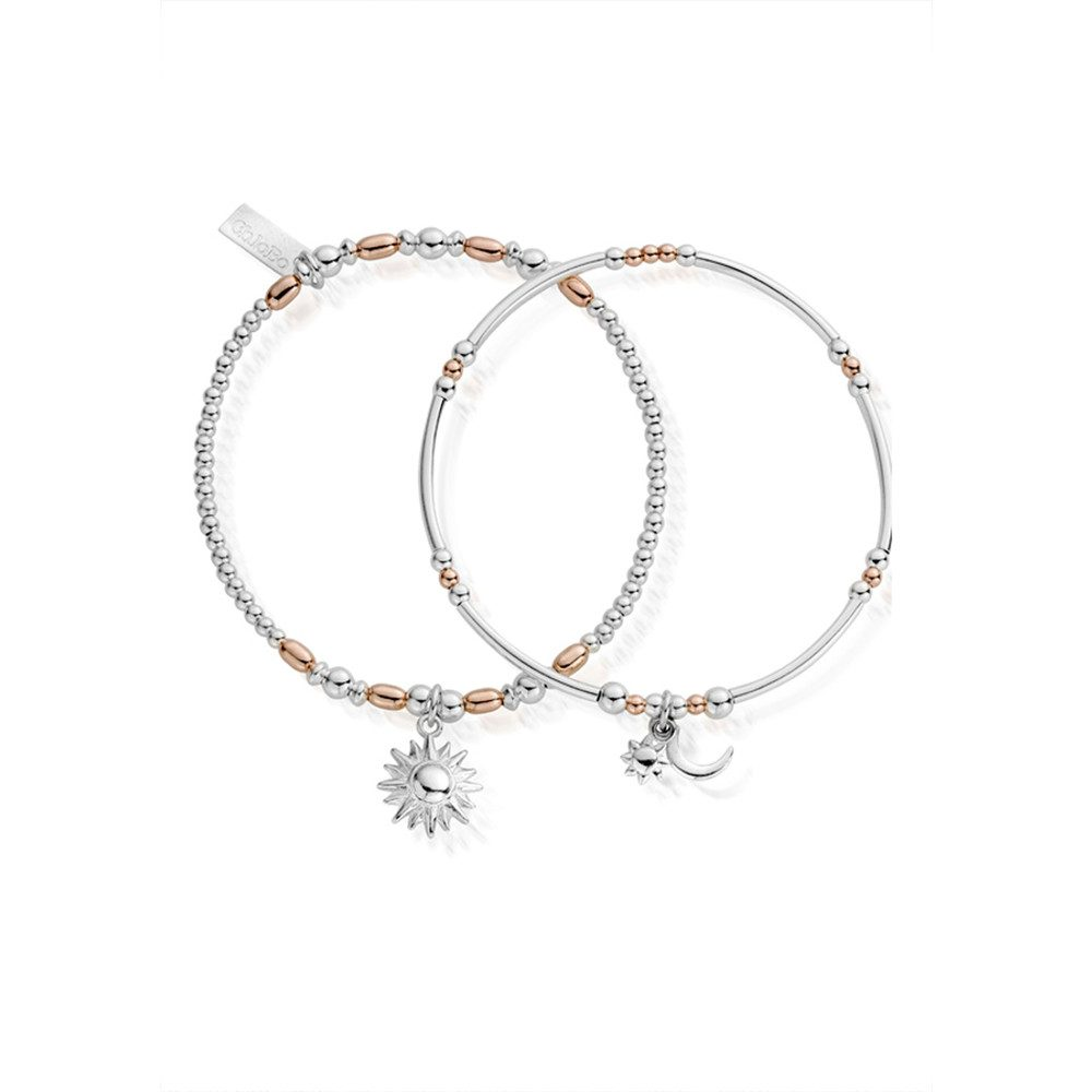 Inner Spirit Dusk To Dawn Set of 2 Bracelets - Rose Gold & Silver