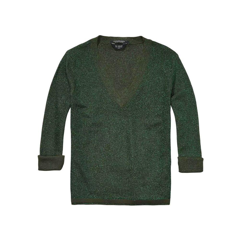 V Neck Lurex Pullover - Colour 1081
