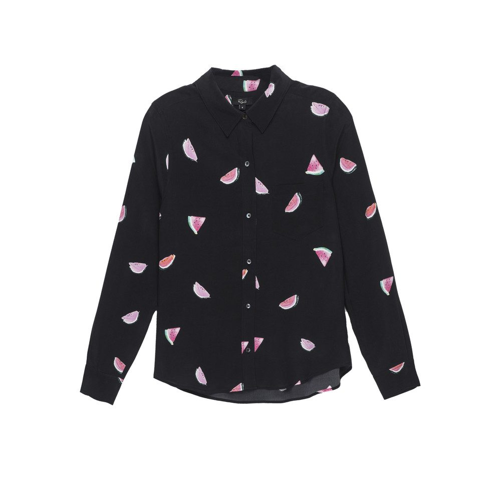 Kate Silk Shirt - Watermelon