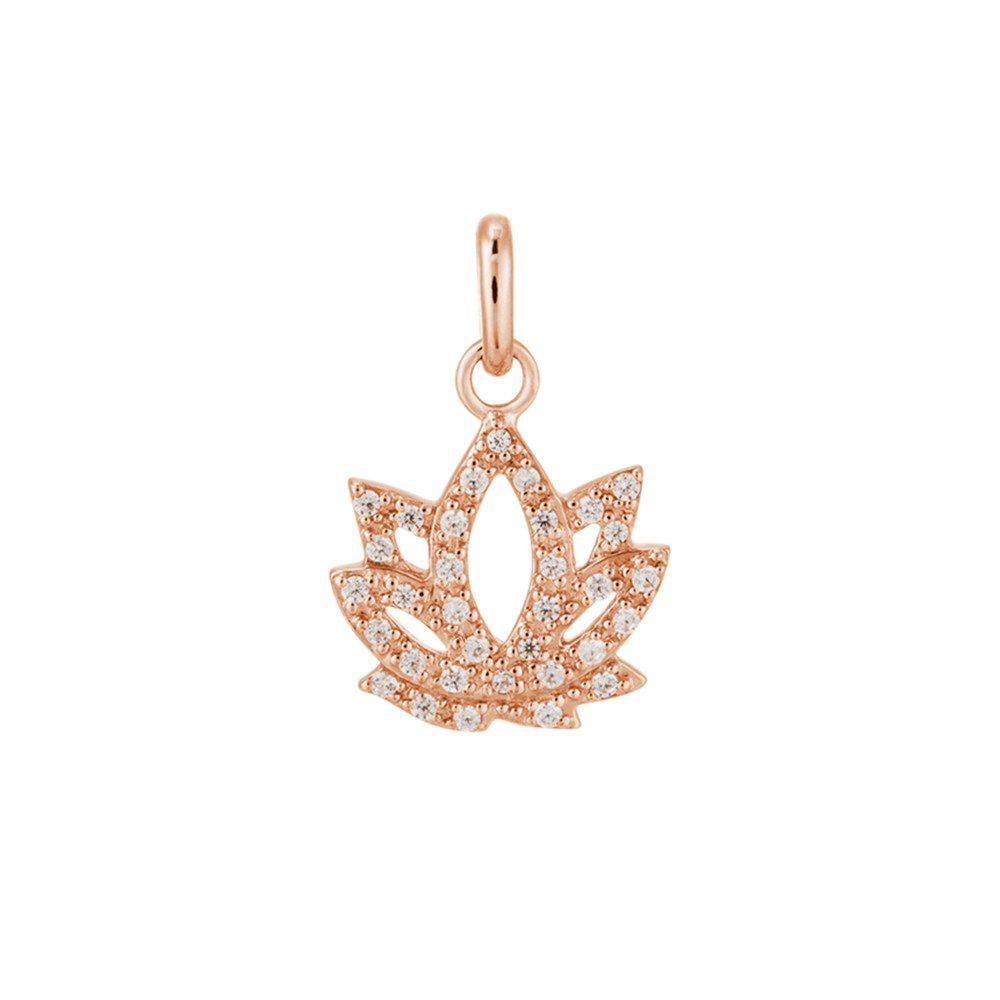 Bespoke Crystal Lotus Charm - Rose Gold