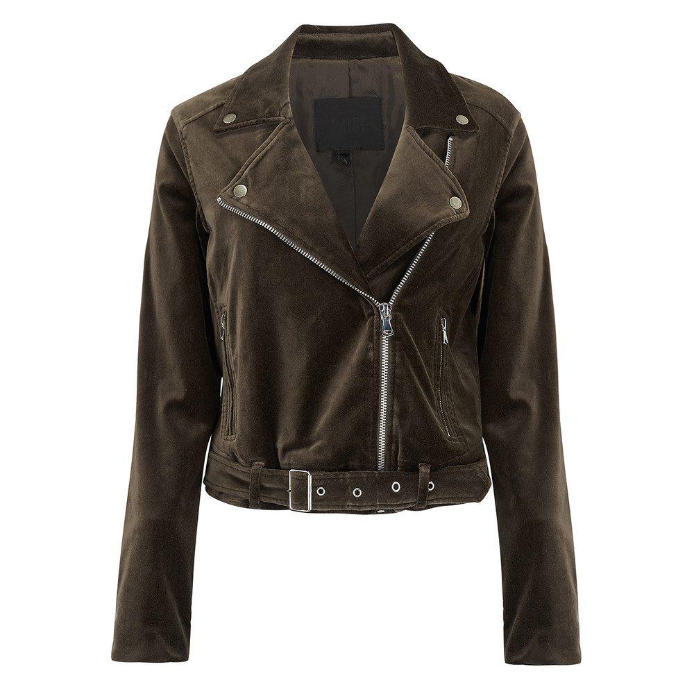 Shanna Velvet Biker Jacket - Vintage Deep Juniper