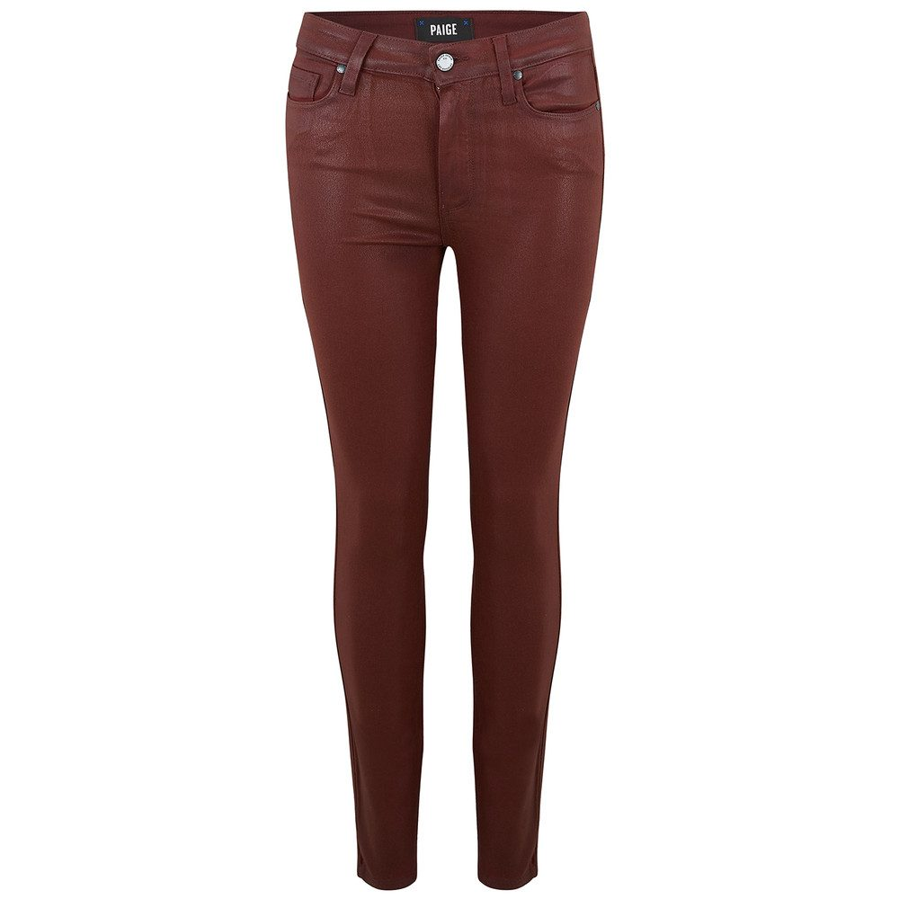 Hoxton Ankle Luxe Coating Jeans - Rouge