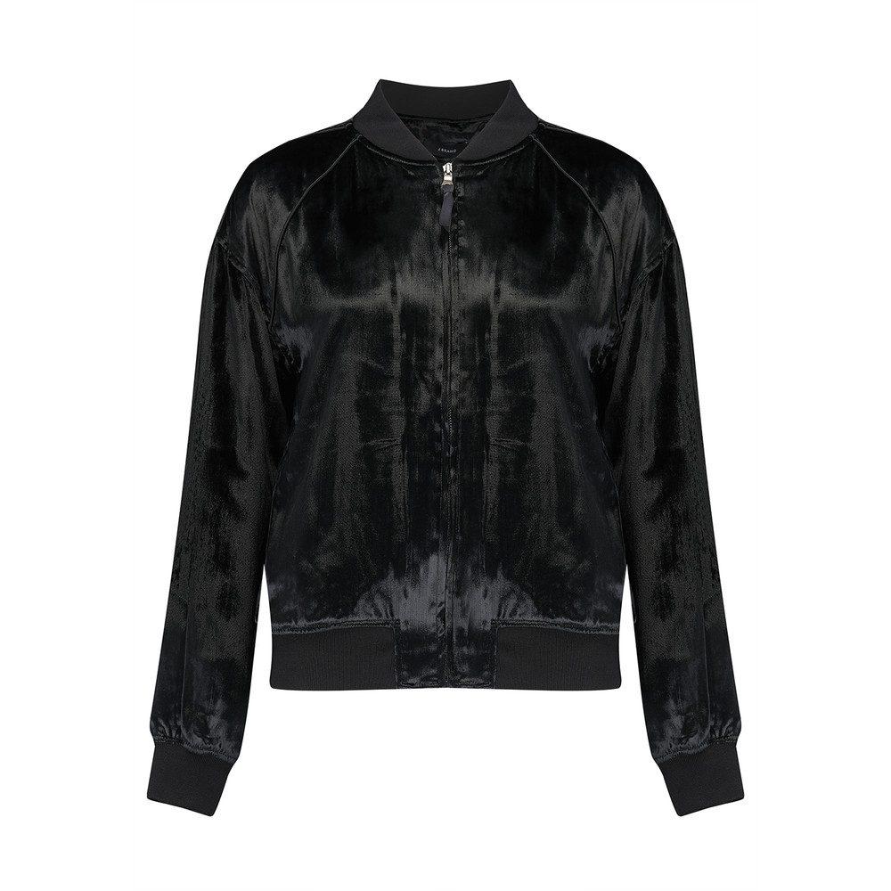 Velvet Pace Bomber Jacket - Black