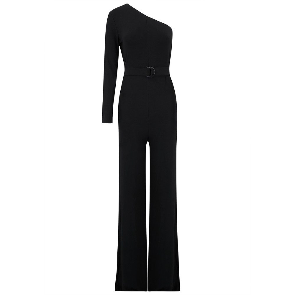 One Shoulder Jumpsuit - Black