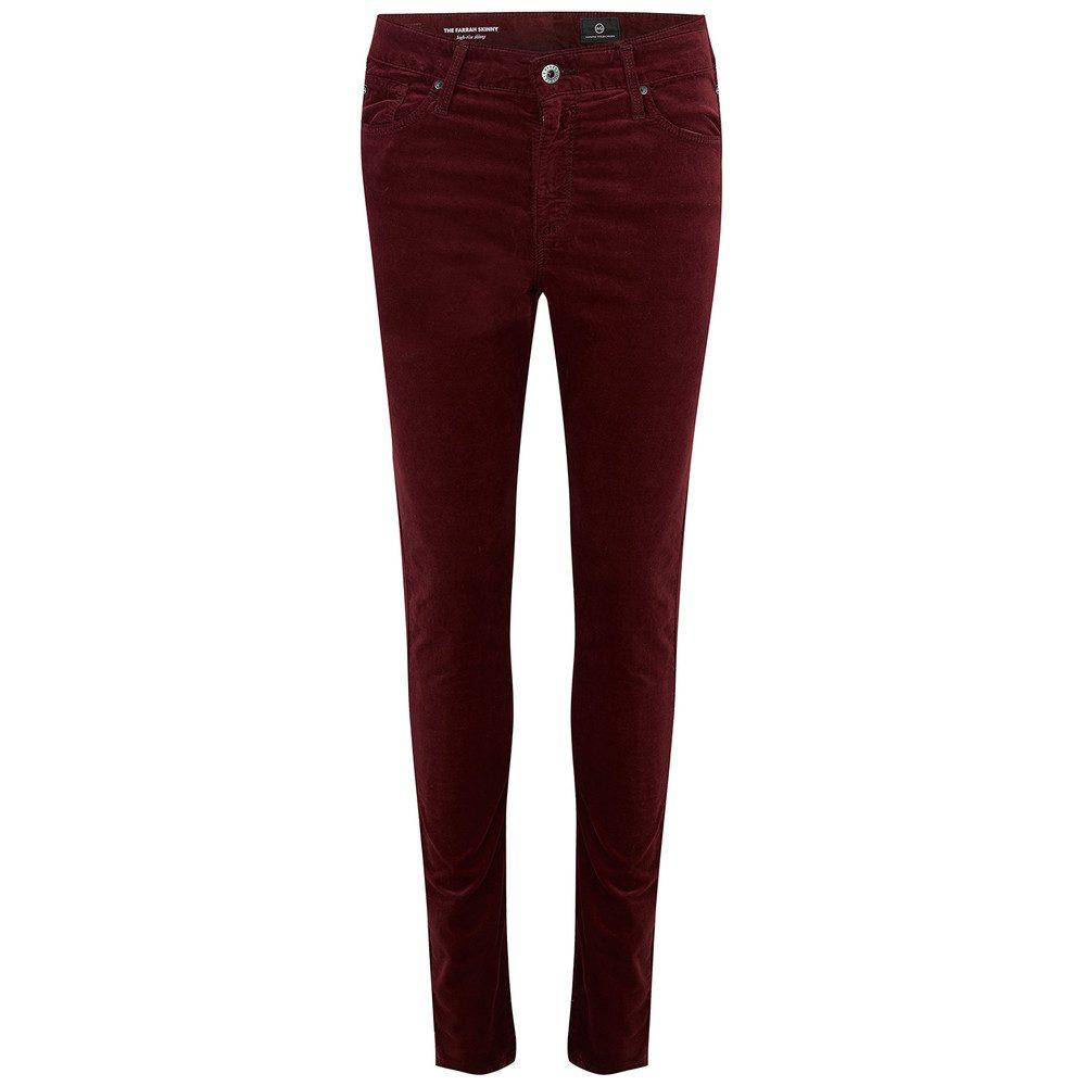 Farrah Velvet Skinny Jeans - Deep Current