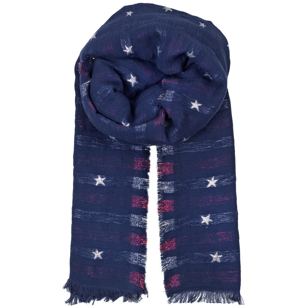 Brilling Cotton Mix Scarf - Medieval Blue
