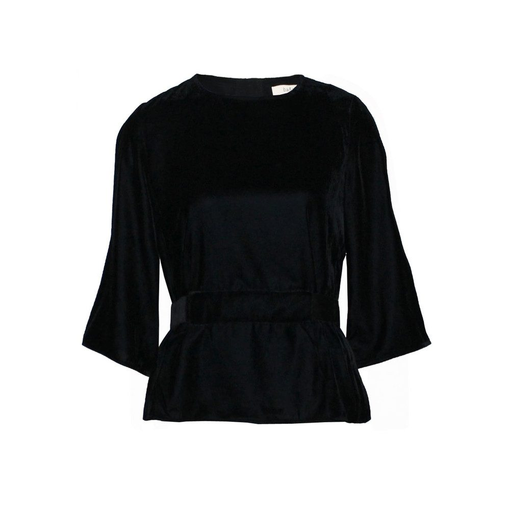 Roxane Velvet Top - Black