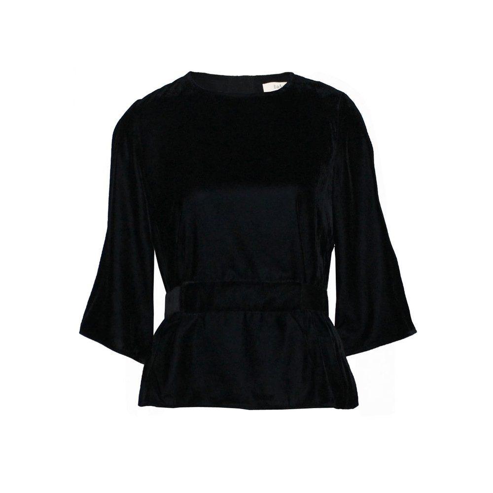 Roxane Velvet Top - Black