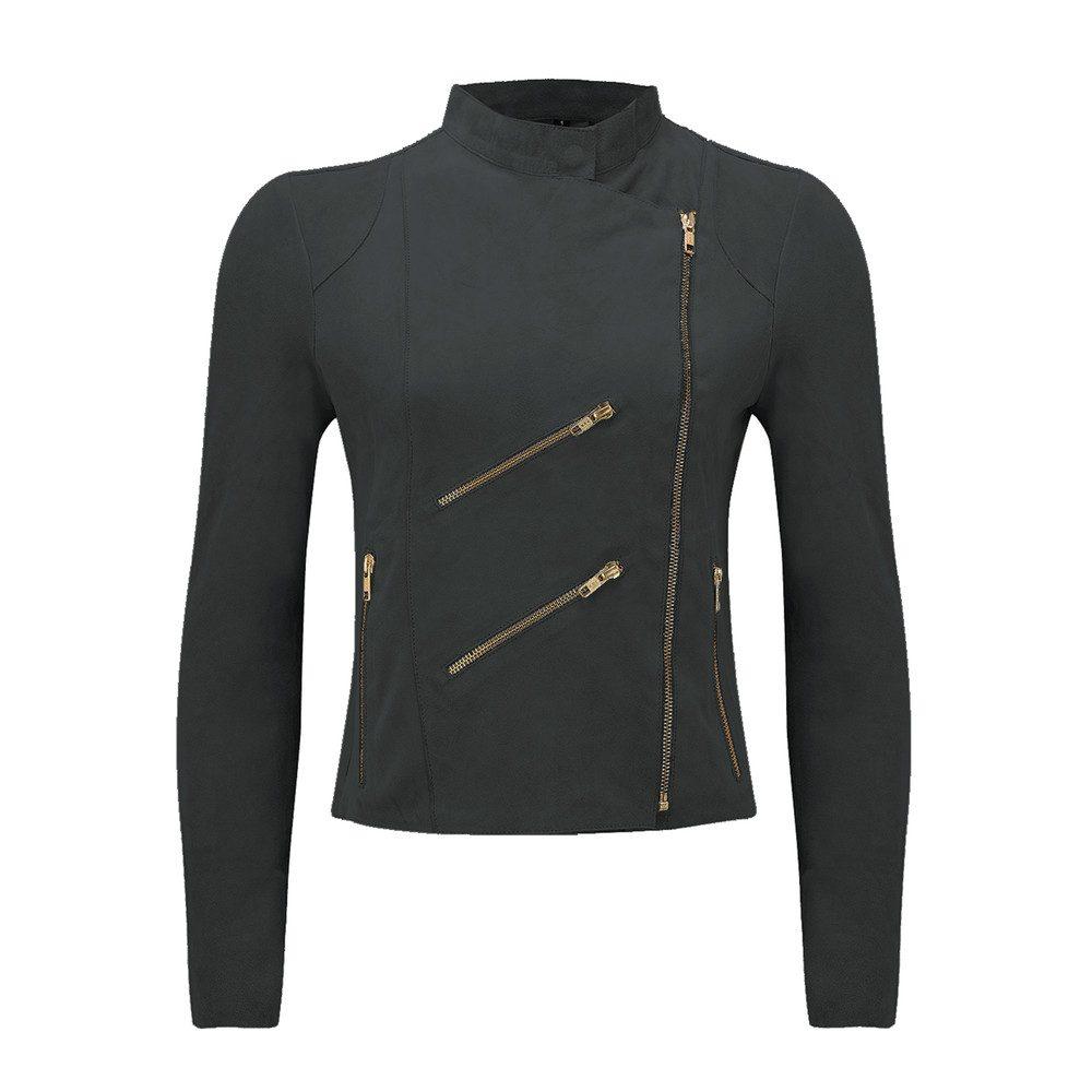 Paris Suede Jacket - Dark Grey