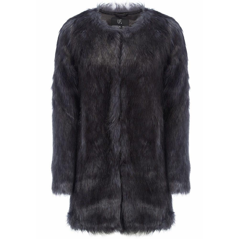 Midnight Faux Fur Coat - Midnight