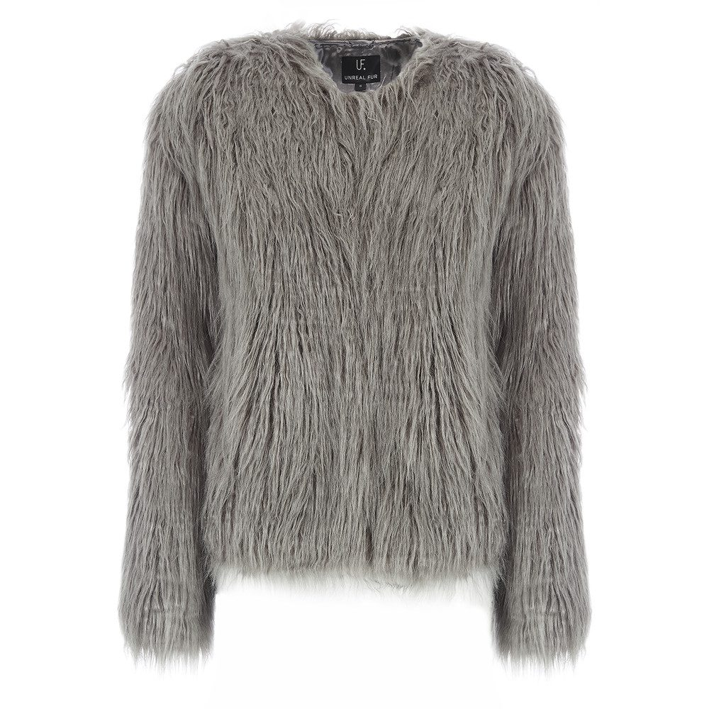 Dream Faux Fur Jacket - Charcoal