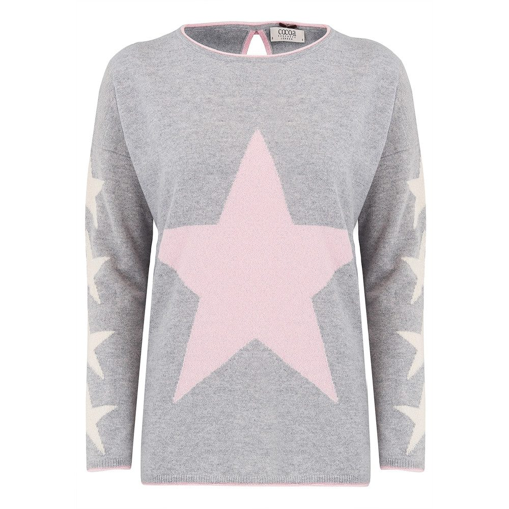 Star Lurex Cashmere Sweater - Grey