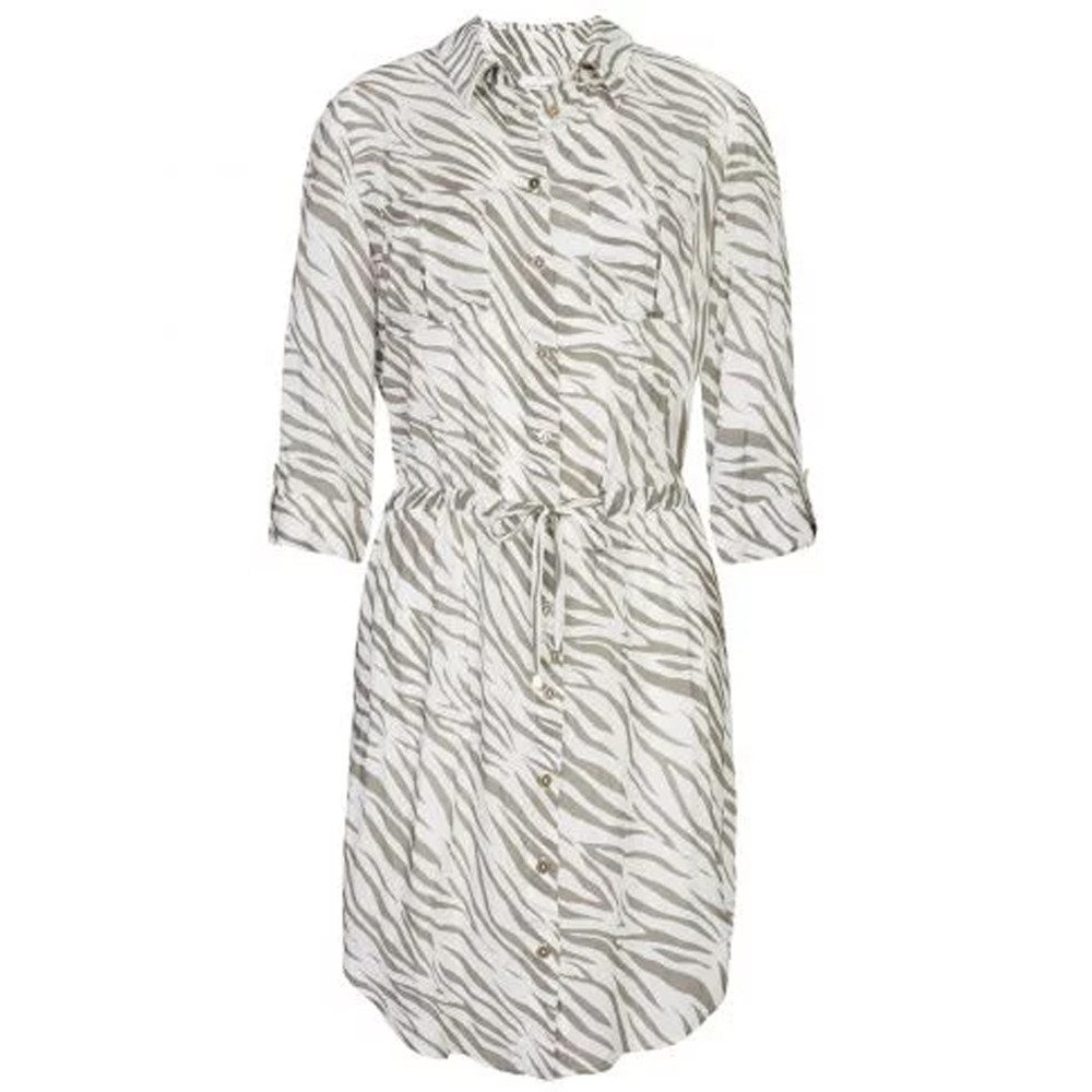 Kalahari Rounded Hem Shirt Dress - Print