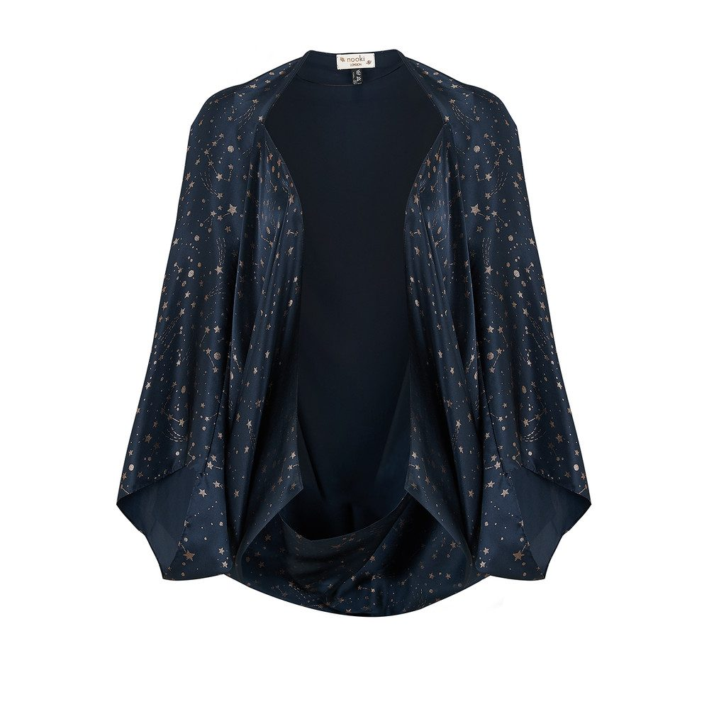 Constellation Silk Cape - Navy