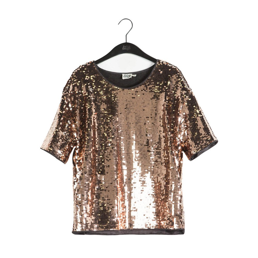 Darcy Sequined Top - Bronze