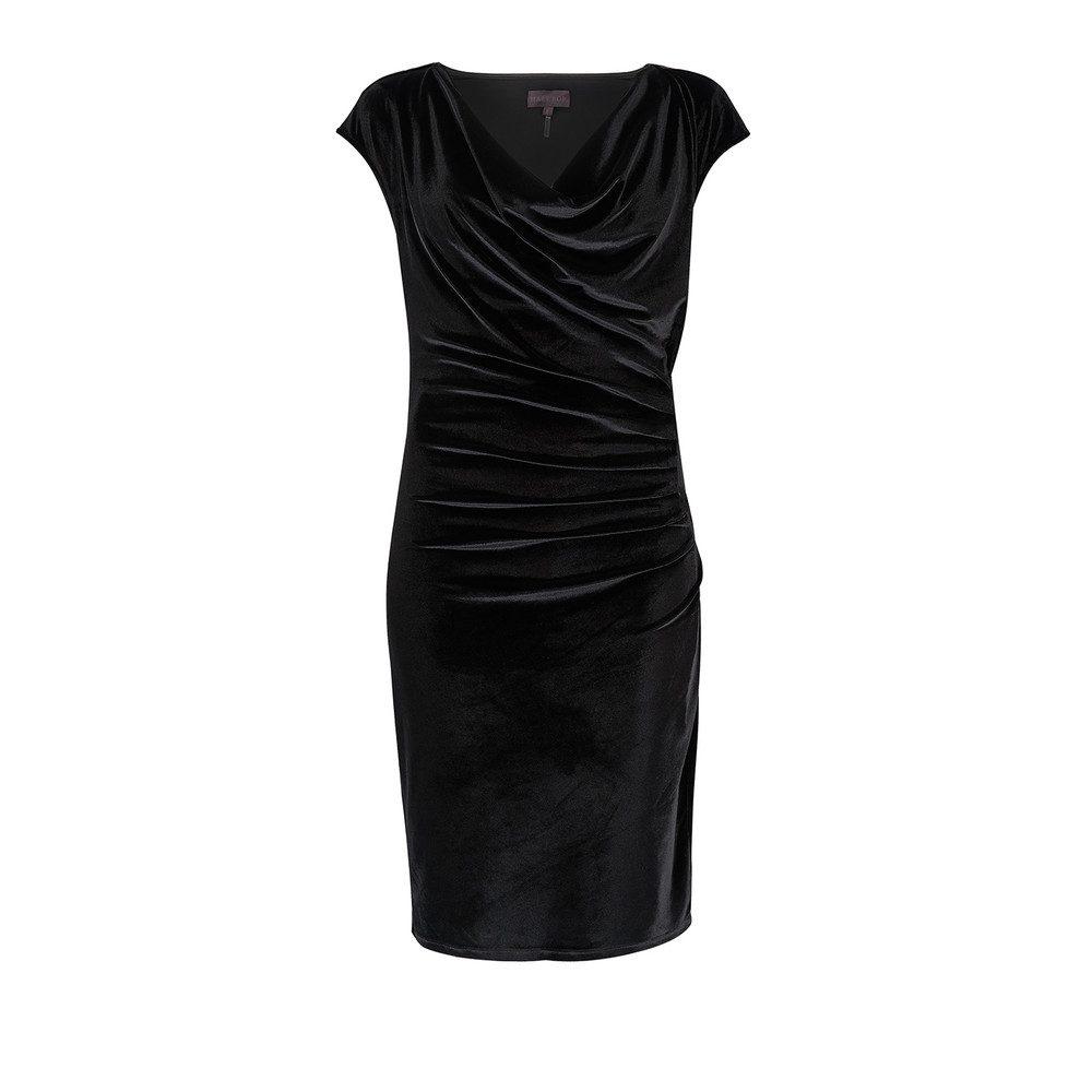 Vinita Velvet Dress - Black