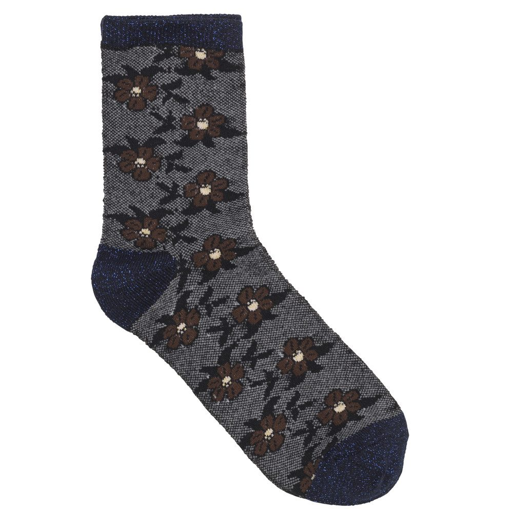 Dory Flower Sock - Classic Navy