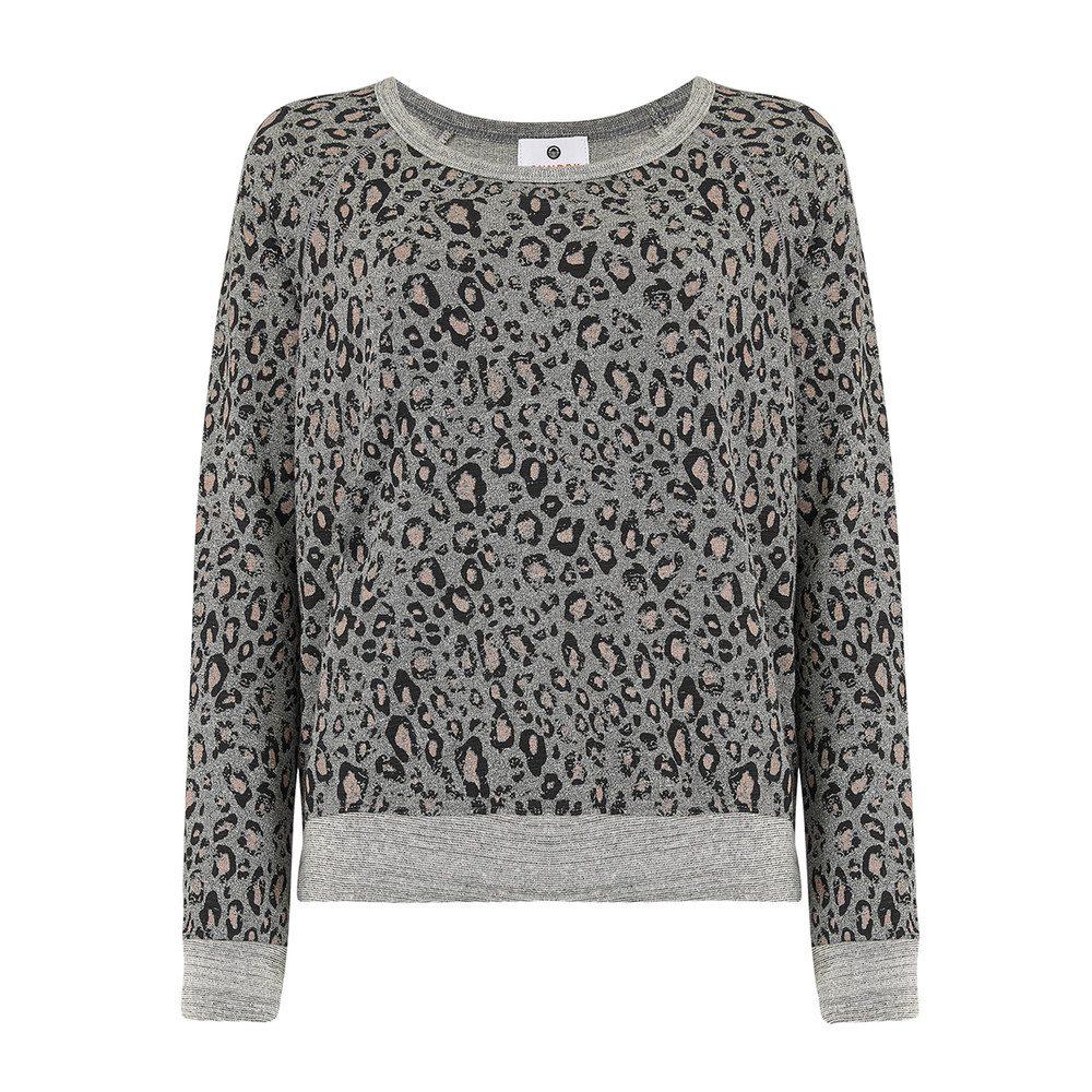 Leopard Print Sweater - Grey