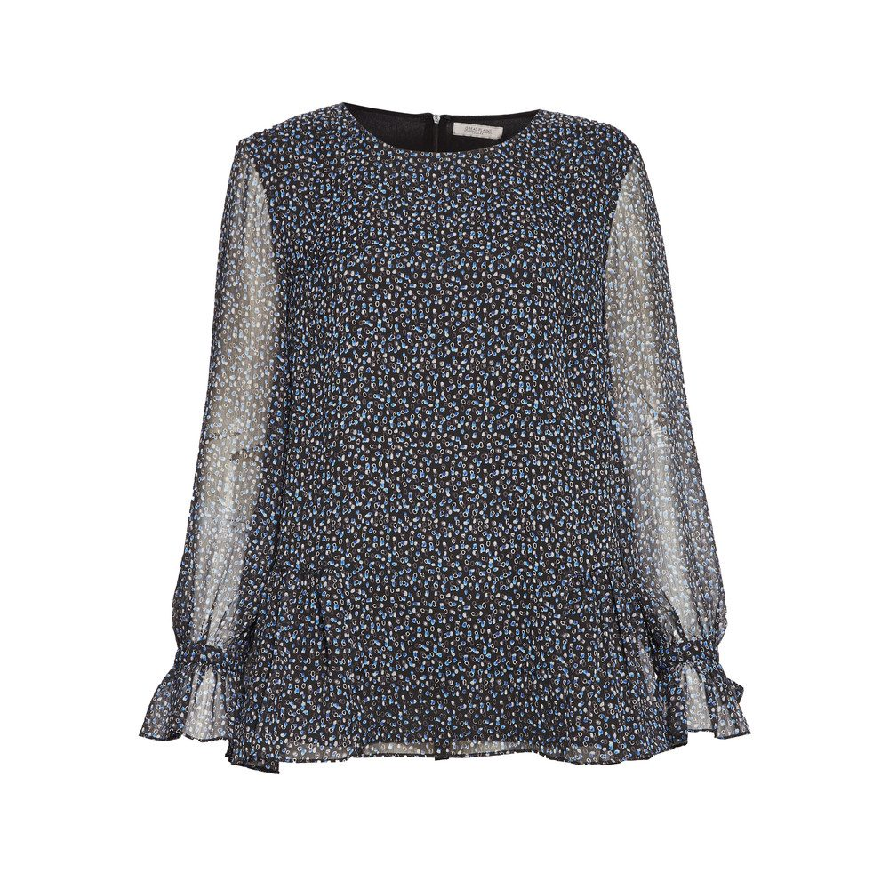 Damari Dot Blouse - Onyx Black