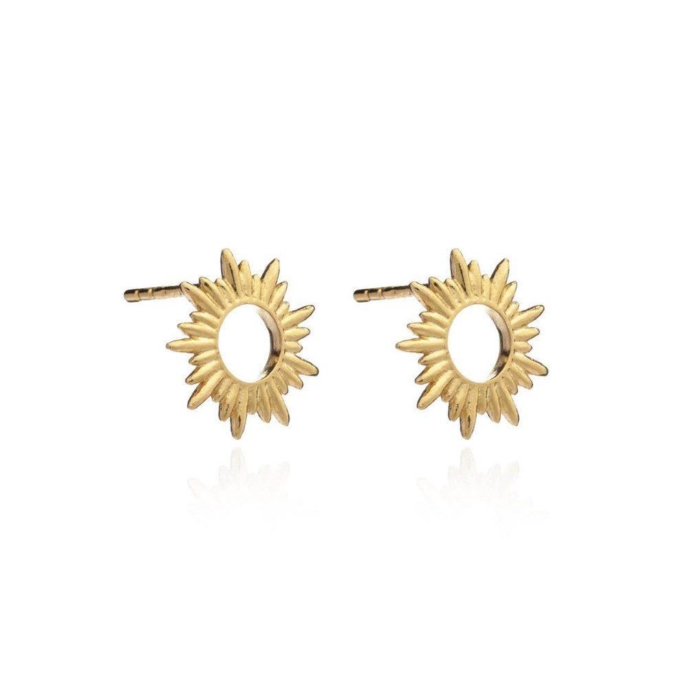 Sunrays Stud Earrings - Gold