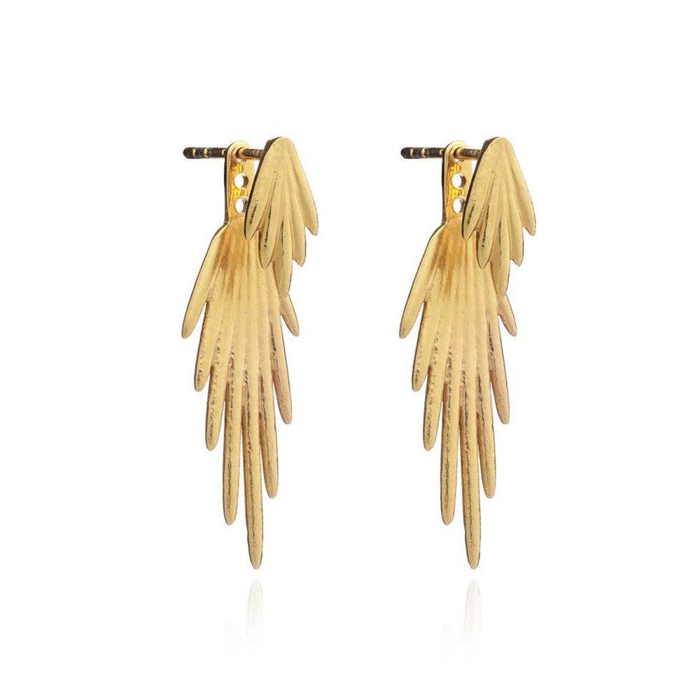 Electric Goddess Earrings - Gold
