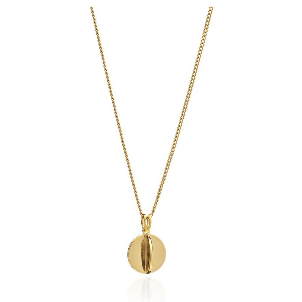 Moon Orb Pendant Necklace - Gold
